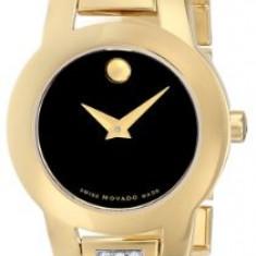 Movado Women's 604984 Amorosa Diamond-Accented Gold-Plated | 100% original, import SUA, 10 zile lucratoare af12408 - Ceas dama Movado, Elegant, Quartz, Analog