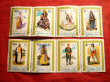 Serie Costume Populare Ajman 1968 8 val. in straifuri, stampilat