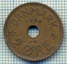 6446 MONEDA - DANEMARCA (DANMARK) - 2 ORE - ANUL 1939 -starea care se vede