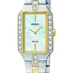 Seiko Women's SUP234 Dress Solar Two-Tone | 100% original, import SUA, 10 zile lucratoare af22508 - Ceas dama Seiko, Elegant, Quartz, Analog