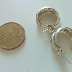 Cercei de argint, cercei argint 925, rotunzi, ideali de zi cu zi, marcaj 925