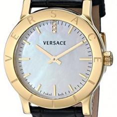 Versace Women's VQA020000 Acron Diamond-Accented Gold-Plated | 100% original, import SUA, 10 zile lucratoare af22508 - Ceas dama Versace, Elegant, Quartz, Analog