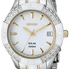 Seiko Women's SNE880 Diamond-Accented Ceramic and | 100% original, import SUA, 10 zile lucratoare af22508 - Ceas dama Seiko, Casual, Analog