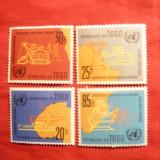 Serie- Ziua ONU - Economie 1961 Togo, 4 val. sarniera - Timbre straine, Zanzibar, Nestampilat