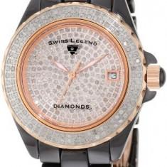 Swiss Legend Women's 20052-WBKR Diamonds Pave   100% original, import SUA, 10 zile lucratoare af22508 - Ceas dama Swiss Legend, Casual, Quartz, Analog