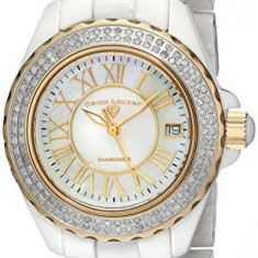 Swiss Legend Women's 20051-WWWGR Karamica Diamond-Studded   100% original, import SUA, 10 zile lucratoare af22508 - Ceas dama Swiss Legend, Casual, Quartz, Analog