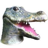 Masca animal latex crocodil aligator petrecere Halloween zoo cosplay+CADOU - Masca carnaval, Marime: Marime universala, Culoare: Din imagine
