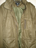 Geaca barbati H&M stil militar. Marime 54 (XL), Khaki, Bumbac
