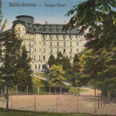 ROMANIA CARTEPOSTALA, BAILE GOVORA-PALACE HOTEL - Carte Postala Oltenia dupa 1918, Necirculata, Printata