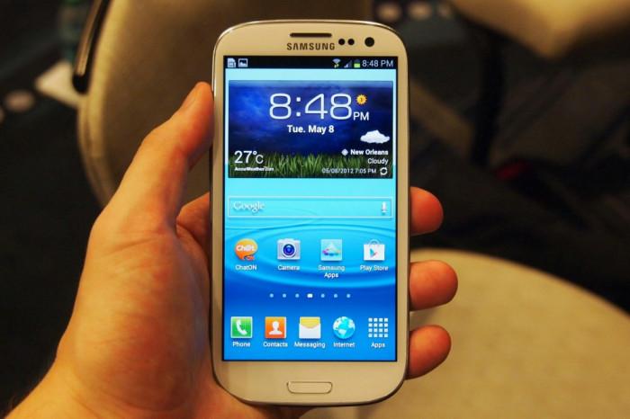 Samsung Galaxy S3 foto mare