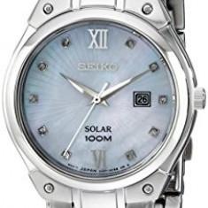 Seiko Women's SUT213 Solar Silver-Tone Stainless   100% original, import SUA, 10 zile lucratoare af22508 - Ceas dama Seiko, Elegant, Quartz, Analog