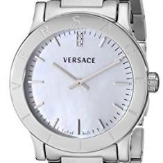 Versace Women's VQA040000 Acron Diamond-Accented Stainless | 100% original, import SUA, 10 zile lucratoare af22508 - Ceas dama Versace, Analog