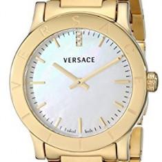 Versace Women's VQA050000 Acron Diamond-Accented Gold-Plated | 100% original, import SUA, 10 zile lucratoare af22508 - Ceas dama Versace, Elegant, Quartz, Analog