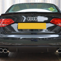 Prelungire spoiler difuzor bara spate Audi A4 B8 8K Sline S Line RS4 S4 ver4, A4 (8K2, B8) - [2007 - 2013]