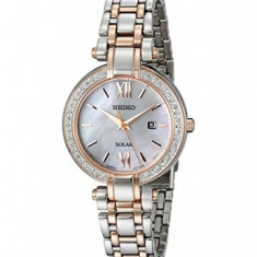 Seiko Women's SUT184 Diamond-Accented Two-Tone Stainless | 100% original, import SUA, 10 zile lucratoare af22508 - Ceas dama Seiko, Analog