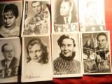 Lot 22 Fotografii -Ilustrate- Actori Sovietici per. 1930-1970