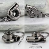 Breloc turbina metal argintiu foarte inchis - ambalaj inclus