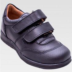 Pantofi din piele naturala -pentru baieti, marimi 27 - Pantofi copii, Culoare: Negru