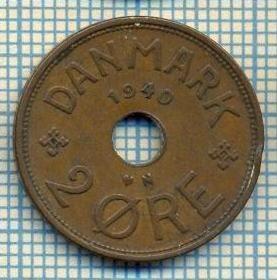6502 MONEDA - DANEMARCA (DANMARK) - 2 ORE - ANUL 1940 -starea care se vede foto