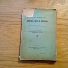 Viata si Organizatia BISERICEASCA SI SCOLARA in Transilvania si Ungaria - 1915 - Carti Istoria bisericii