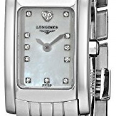 Longines Women's L51584946 DolceVita Diamond-Accented Stainless | 100% original, import SUA, 10 zile lucratoare af12408 - Ceas dama Longines, Elegant, Quartz, Analog