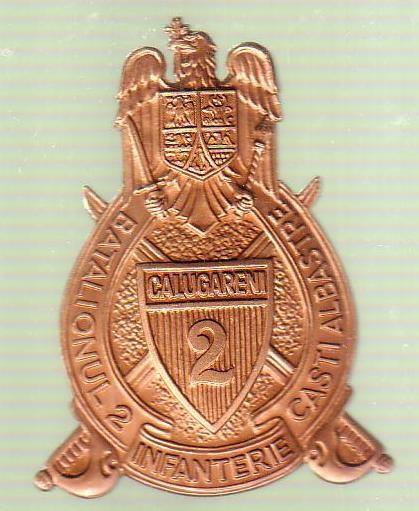 medalie - Batalionul 2 infanterie - Casti albastre foto mare