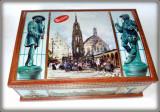 Cutie litografiata din tabla  Nurnberg - Germania  L=37  x 26,5cm ; H = 15,5cm