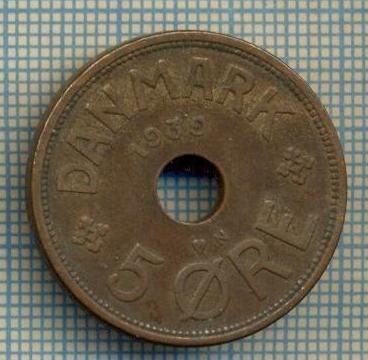 6476 MONEDA - DANEMARCA (DANMARK) - 5 ORE - ANUL 1939 -starea care se vede foto
