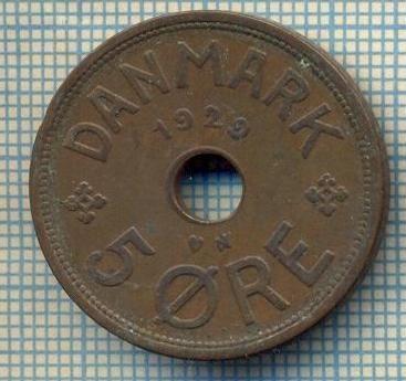 6471 MONEDA - DANEMARCA (DANMARK) - 5 ORE - ANUL 1929 -starea care se vede foto mare