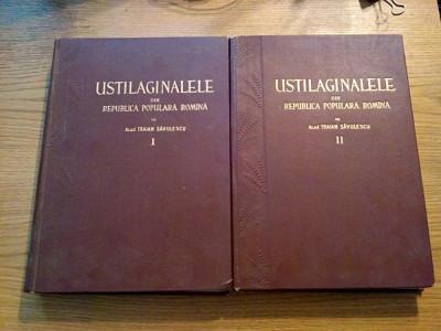USTILAGINALELE din R. S. R. - Traian Savulescu (autograf) - vol. I + II , 1957 foto