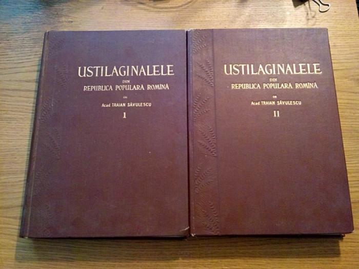 USTILAGINALELE din R. S. R. - Traian Savulescu (autograf) - vol. I + II , 1957 foto mare