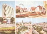 CPI (B5407) CARTE POSTALA - TARGU MURES. HOTEL GRAND, PIATA TEATRULUI, TRANDAFI, Circulata, Fotografie