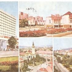 CPI (B5407) CARTE POSTALA - TARGU MURES. HOTEL GRAND, PIATA TEATRULUI, TRANDAFI - Carte Postala Maramures dupa 1918, Circulata, Fotografie