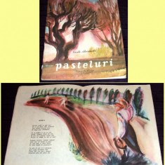 Pasteluri - Vasile Alecsandri, poezii cu ilustratii Adrian Ionescu, editie 1984 - Carte poezie copii