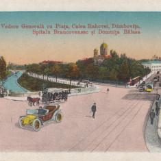 VEDERE GENERALA CU PIATA, CALEA RAHOVEI, DAMBOVITA, SPITALUL BRANCOVENESC - Carte Postala Muntenia 1904-1918, Bucuresti, Necirculata, Printata