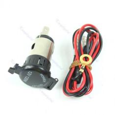 Priza 12V motocicleta sau masina si cablu cu siguranta inclus