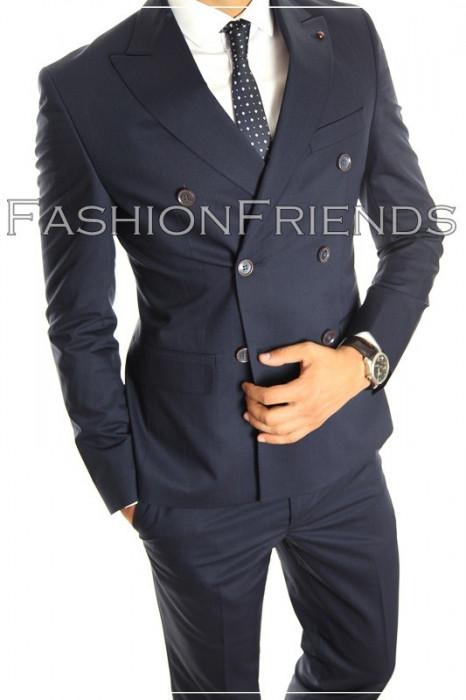 Costum tip ZARA - sacou + pantaloni - costum barbati casual office  - 5003 foto mare