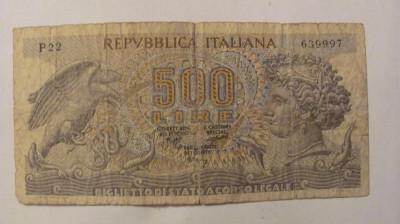 CY - 500 lire 1970 Italia foto
