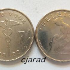 Moneda 1 Franc - Belgia 1922 *cod 358, Europa