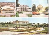 CPI (B5437) CARTE POSTALA - BUCURESTI. SALA PALATULUI, OPERA, ATENEUL..., Circulata, Fotografie