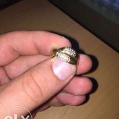 Inel 18 k cu diamante - Inel diamant, Culoare: Galben