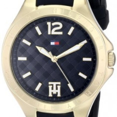 Tommy Hilfiger Women's 1781382 Gold-Tone Watch | 100% original, import SUA, 10 zile lucratoare af22508 - Ceas dama Tommy Hilfiger, Casual, Quartz, Silicon, Analog
