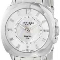 Akribos XXIV Women's AK668SS Lady Diamond | 100% original, import SUA, 10 zile lucratoare af22508 - Ceas dama Akribos, Elegant, Analog