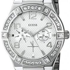 GUESS Women's U0290L1 Silver-Tone Multi-Function Watch | 100% original, import SUA, 10 zile lucratoare af22508 - Ceas dama Guess, Casual, Quartz, Analog