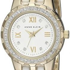 Anne Klein Women's 10 9456WTGB Swarovski | 100% original, import SUA, 10 zile lucratoare af22508 - Ceas dama Anne Klein, Elegant, Analog