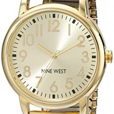 Nine West Women's NW 1676CHGB Easy | 100% original, import SUA, 10 zile lucratoare af22508 - Ceas dama Nine West, Analog