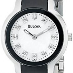 Bulova Women's 98P127 Diamond Black Silver | 100% original, import SUA, 10 zile lucratoare af22508 - Ceas dama Bulova, Analog