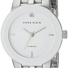 Anne Klein Women's AK 1611WTSV Diamond | 100% original, import SUA, 10 zile lucratoare af22508 - Ceas dama Anne Klein, Casual, Quartz, Analog