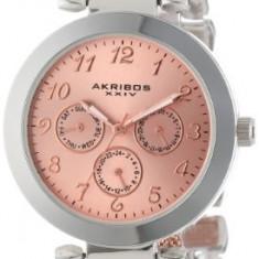 Akribos XXIV Women's AK564TTR Multi-Function Mesh-Link | 100% original, import SUA, 10 zile lucratoare af22508 - Ceas dama Akribos, Casual, Quartz, Analog