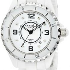 Akribos XXIV Women's AK485WT-N Diamond-Accented White | 100% original, import SUA, 10 zile lucratoare af22508 - Ceas dama Akribos, Casual, Quartz, Analog